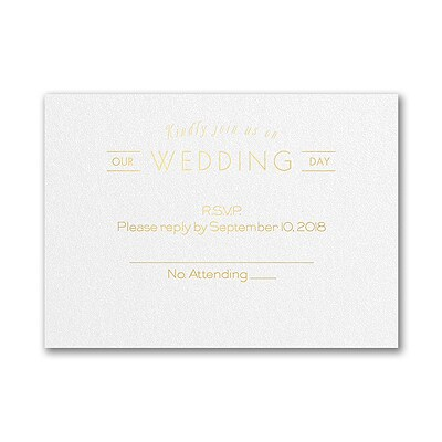 Type it Out - Response Card and Envelope - White Shimmer