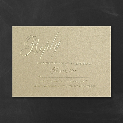 It All Shimmers - Response Card and Envelope - Gold Shimmer