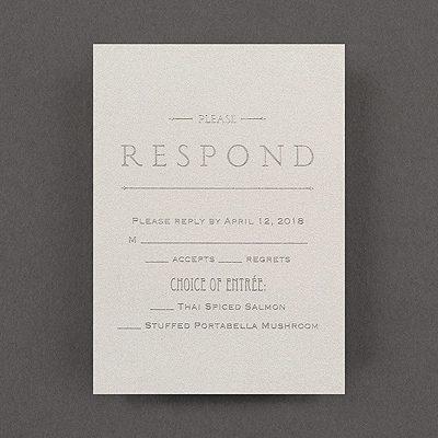 It's a Wedding - Response Card and Envelope - White Shimmer