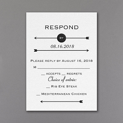 Clearly Original - Response Card and Envelope