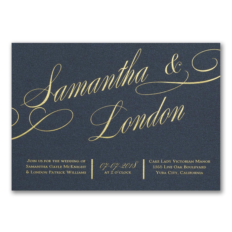 It All Shimmers Invitation Gold Glitter Wedding Invitations