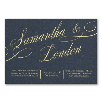 It All Shimmers - Invitation - Gold Glitter
