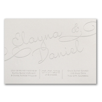 It All Shimmers - Invitation - Silver Glitter