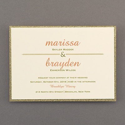 peek of glitter invitation gold wedding invitations carlson