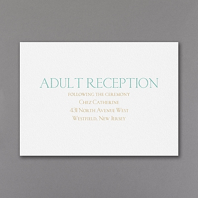 Shine Through - Reception Card