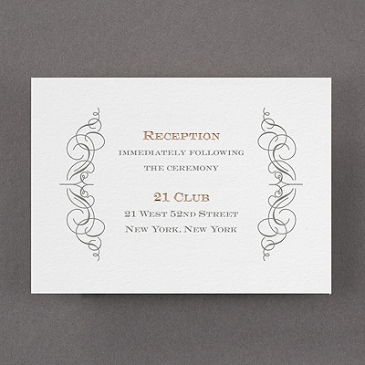 Vintage Impression - Reception Card - Fluorescent White
