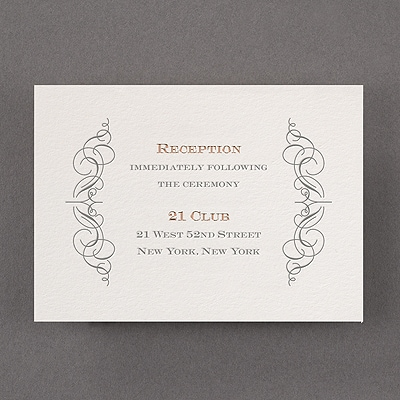 Vintage Impression - Reception Card - Pearl White