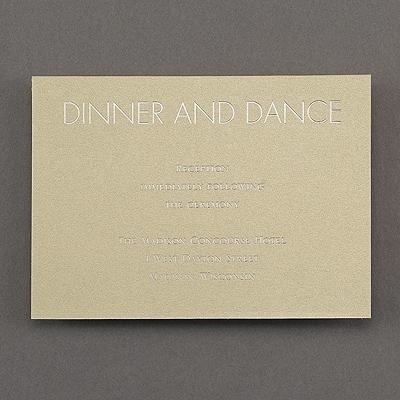 Modern Marble - Reception Card