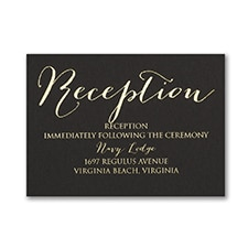 Foil Again - Reception Card