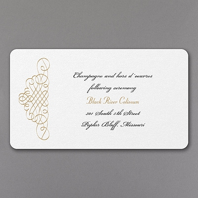 Whirl of Swirls - Reception Card
