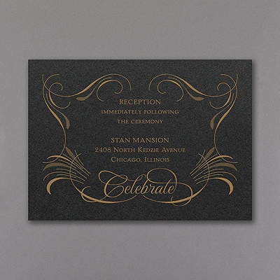 Hidden Message - Reception Card