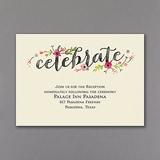 Wood and Petals - Reception Card