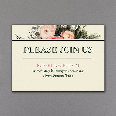 Wood and Roses - Reception Card
