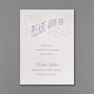 All That Glitters - Reception Card