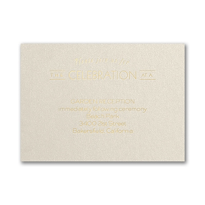 Type it Out - Reception Card - Ecru Shimmer