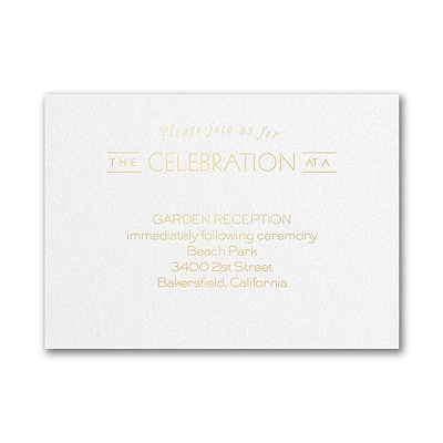 Type it Out - Reception Card - White Shimmer