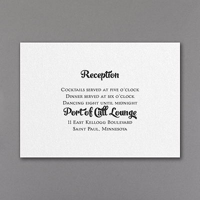 Clearly Whimsical - Reception Card