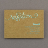 Rustic Glam - Reception Card