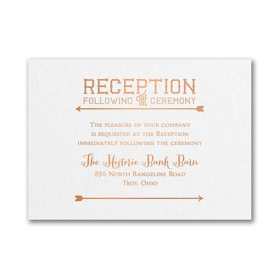 To the Wedding - Reception Card - White Shimmer