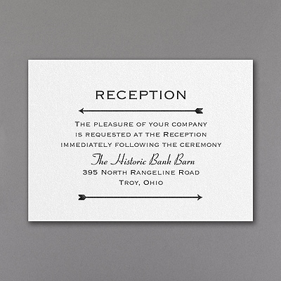 Clearly Original - Reception Card
