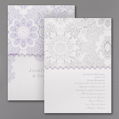 In Stitches - Invitation - White