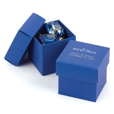 Two-piece Favor Box - Personalized - Royal Blue