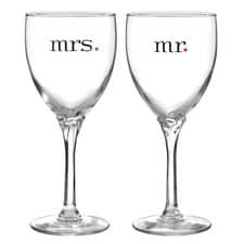 Mr. and Mrs. - Wine Glasses
