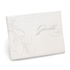 Swirl Dots - Guest Book - White