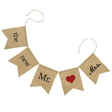 Burlap Banner Garland - the new Mr. & Mrs.