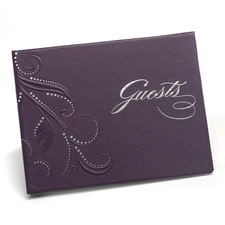 Swirl Dots - Guest Book - Purple