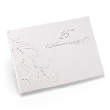 Swirl Dots - 25th Anniversary - Guest Book