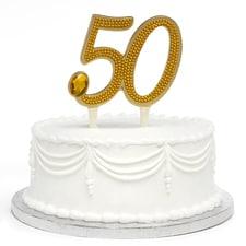 Gilded 50th Anniversary - Cake Pick
