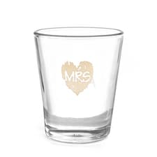 Brush of Love - Mrs - Shot Glass