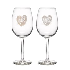 Brush of Love - Wine Glasses