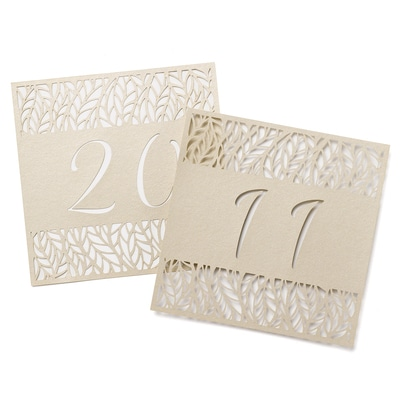 Organic Leaves - Table Number Cards 11-20