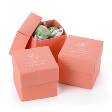 Two-piece Favor Box - Personalized - Coral