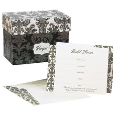 Damask - Recipe Box Invitation Set