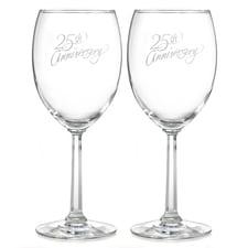 25th Anniversary - Wine Glasses