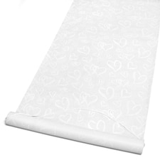 Linked Hearts - Aisle Runner - White