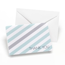 Simple Stripe - Thank You Card and Envelope - Lagoon and Slate
