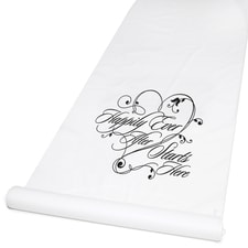 Happily Ever After - Aisle Runner - White