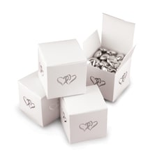 Linked At The Heart - Favor Box - Blank - White