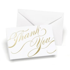 Unending Gratitude - Thank You Card and Envelope - Gold