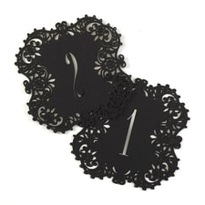 Laser-Cut - Table Number Cards 1-10 - Black