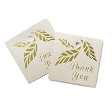 Organic Leaves - Favor Tags