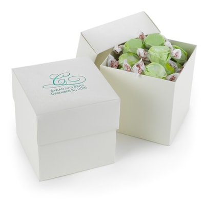Two-piece Cupcake Box - Personalized - Ivory Shimmer