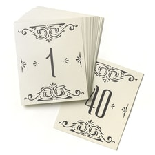 Glamour - Table Number Cards
