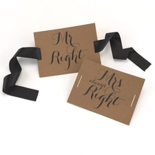Mr. and Mrs. - Chair Banners - Kraft
