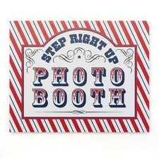Step Up to the Booth - Sign