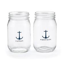 Nautical - Drinking Jars